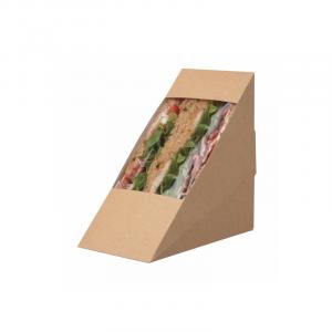 Posuda za trougaoni sendvič 123 x 72 x 123mm kraft (500 kom/pak)
