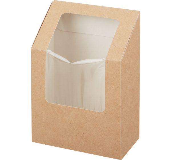 Kartonska posuda za salate-roll 90x50x130 mm kraft (400 kom/pak)