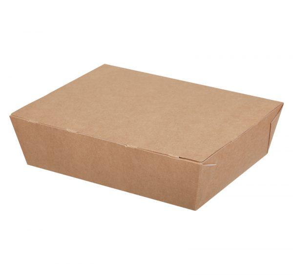 Kartonska kutija za ručak ECO LUNCH 1000 ml 190x150x50 mm, kraft (200 kom/pak)