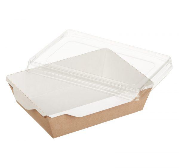 Kartonska posuda za salate i topla jela sa providnim poklopcem ECO OpSalad 500 ml 160х120х45 mm kraft (300 kom/pak)