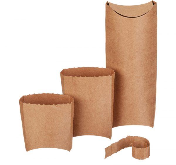 Kutija za wrap, kebab i tortilju 210x80x60 mm, kraft (50 kom/pak)