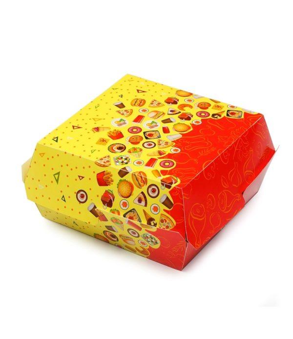 Kutija za hamburger FastFood 120х120х70 mm (25 kom/pak)
