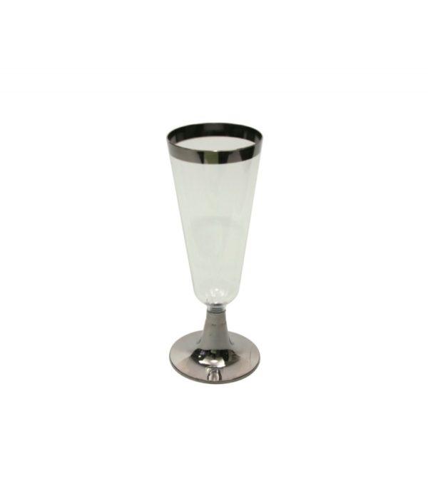 Čaša Tambien za šampanjac 150 ml providna sa srebrenom trakom 6 kom/pak