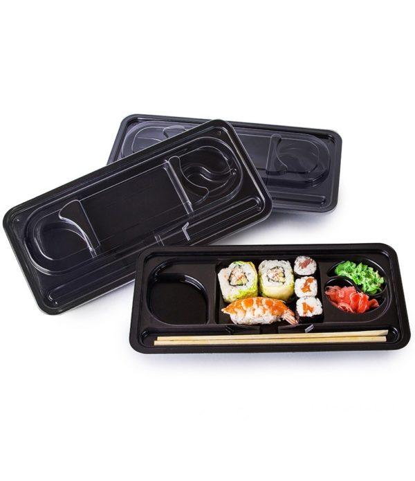 Posuda za sushi PS 275х121х43mm crna (400 kom/pak)