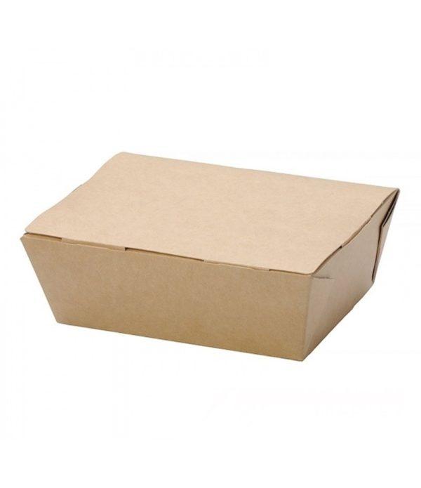 Kartonska kutija za ručak ECO LUNCH BOX 600 ml 150x115x50 mm, kraft (500 kom/pak)