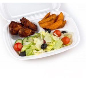 Kutija za ručak preklopna LUNCH BOX EPS 3 odeljka 249х207х61мм LBE-3 (100 kom/pak) (100 kom/pak)