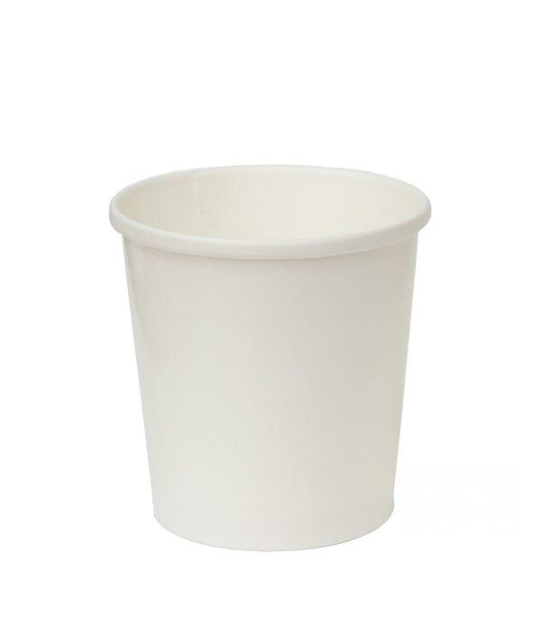 Posuda papirnata d=98mm, h=99mm, 500 ml, bela za topla jela (25 kom/pak)
