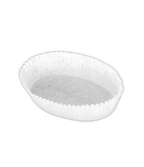 Minjoni Papirnate korpice za pecivo, oval 30х80mm, h=25mm, bele (2000 kom/pak)
