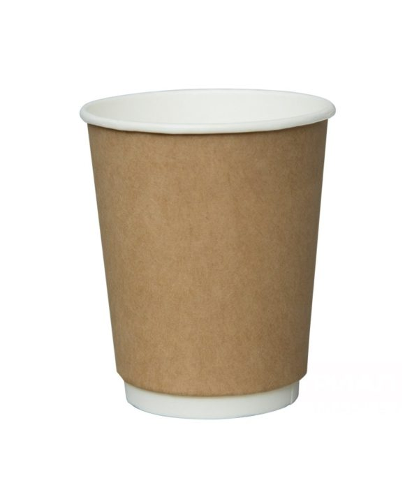 Papirna čaša 2-sl 250 ml d=80mm kraft (25 kom/pak)
