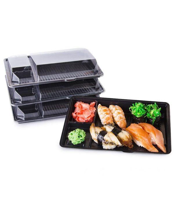 Posuda za sushi PS 201х125х36mm crna (540 kom/pak)