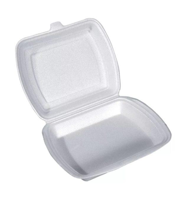 Kutija za ručak preklopna LUNCH BOX EPS 1 odeljak 250х210х65mm (100kom. u pakovanju) (100 kom/pak)