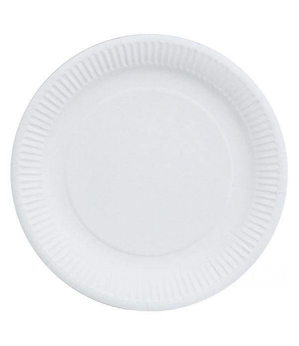 Tanjir kartonski d=230 mm bijeli lakirani (100 kom/pak)