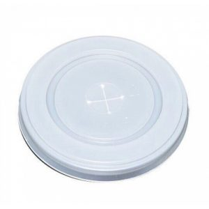 Ravan poklopac sa otvorom za slamčicu d=80 mm (100 kom/pak)