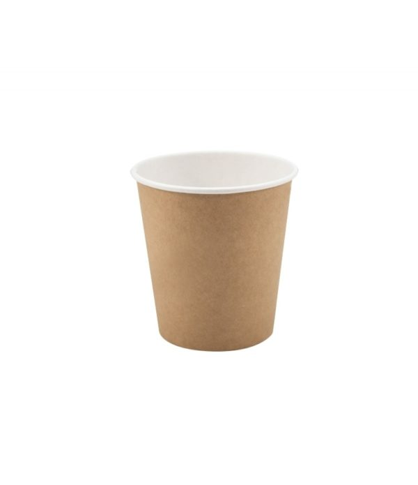 Čaša 250 ml papirnata d=80 mm Happy Life KRAFT za topla pića (50 kom/pak)