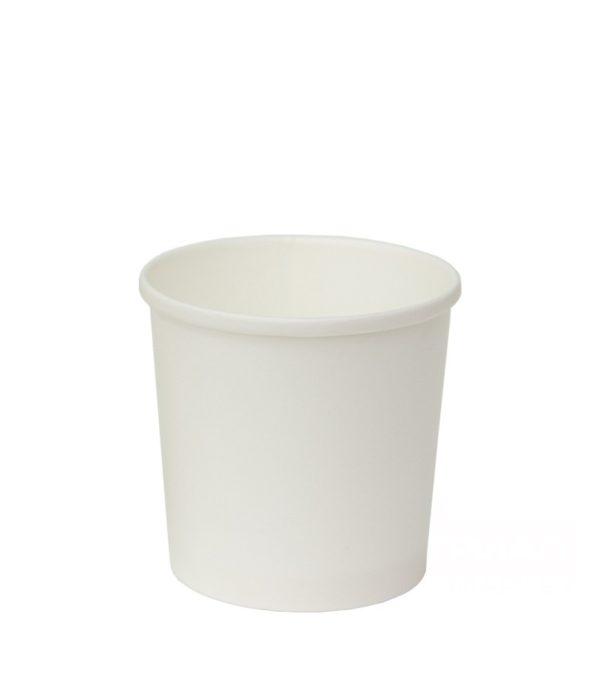 Kartonska posuda sa poklopcem za supu 300 ml d=90 mm h=85 mm bijela 500 kom (komplet)