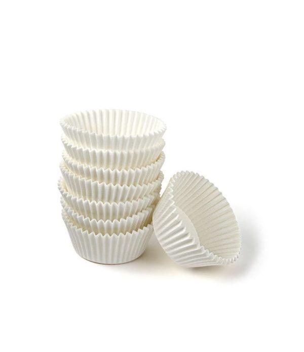 Minjoni papirne korpice za pecivo okrugli d=25 mm h=16 mm bijeli (1000 kom/pak)