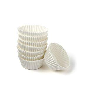 Minjoni papirne korpice za pecivo okrugli d=30 mm h=18 mm bijeli