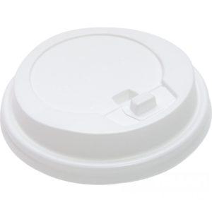 Poklopac s bočnim otvorom d=90mm beli sa jezičkom(100 kom/pak)