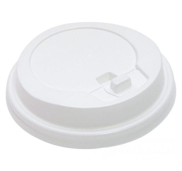 Poklopac s bočnim otvorom d=90mm beli sa jezičkom(100 kom/pak) (100 kom/pak)