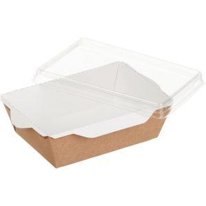 Posuda papirnata za salate i topla jela sa providnim poklopcem ECO OPSalad 120х85х45 mm 400 ml, kraft (400 kom/pak)