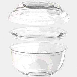 Poklopac za činiju  BOPS 220 ml d=110 mm providan (100 kom/pak)
