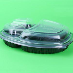 Pokrov za posodico PP SP 257х202mm h-35mm, 3-delni, barva prozorna