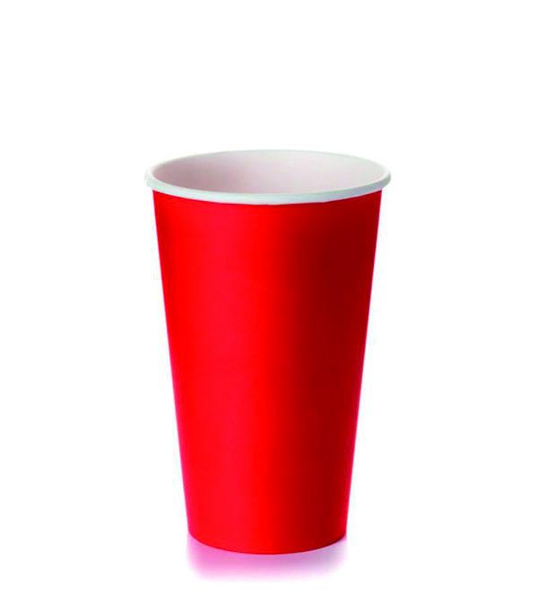 Papirna čaša 1-sl 400 ml d=mm crvena (50 kom/pak)