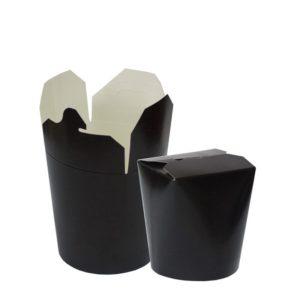 Posuda papirnata PKR 103х84х97,5mm 500ml crna, okruglo dno (480 kom/pak)