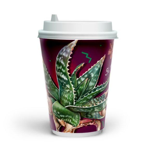 Papirna čaša 2-sl 230 ml d=80 mm Fleur de café (20 kom/pak)
