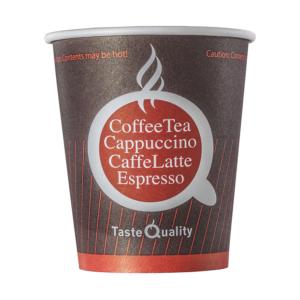 Čaša papirnata jednoslojna 180 (205) ml d=72mm za tople napitke kafa TQ (80 kom/pak)