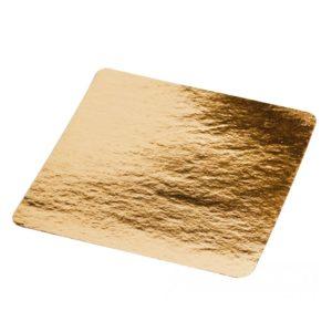Tacna od kartona 210x210mm zlatna (50 kos/pak)