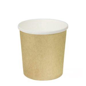 Posuda papirnata d=90mm h=99mm 500 ml, za topla jela kraft