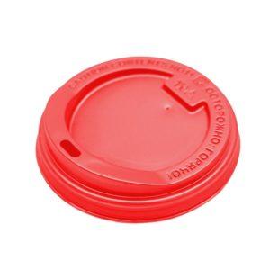 Poklopac sa bočnim otvorom, d=90 mm crven PS (100 kom/pak)