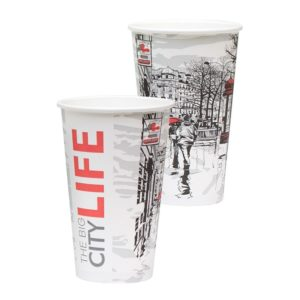 Čaša papirnata Big City Life 400 ml, d=90 mm (50 kom/pak)