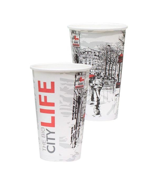 Čaša papirnata Big City Life 400 ml, d=90 mm (50 kom/pak)