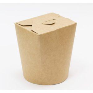 Posuda papirnata 103x84x97,5mm 500ml kraft okrugla dna (30 kom/pak)