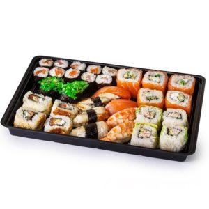 Posuda za sushi PS 295x205x43 mm crna (200 kom/pak)