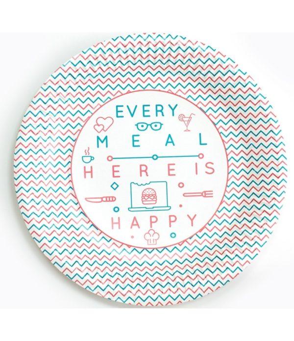 Tanjir kartonski d=230 mm Happy Life (100 kom/pak)