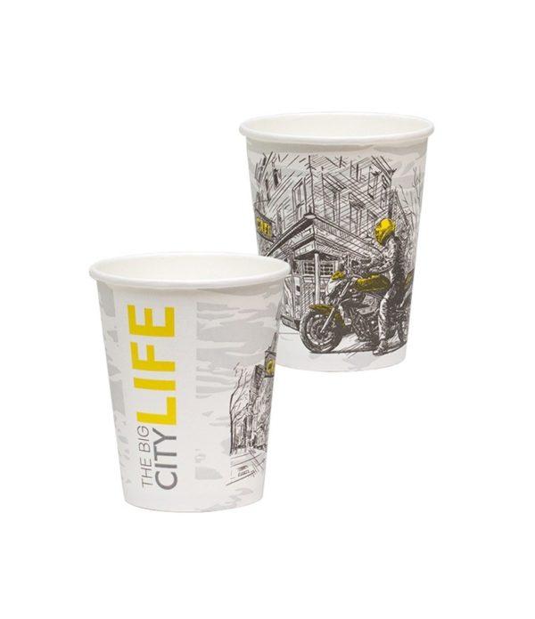 Papirna čaša 1-sl 250 ml d=80 mm Big City Life (50 kom/pak)