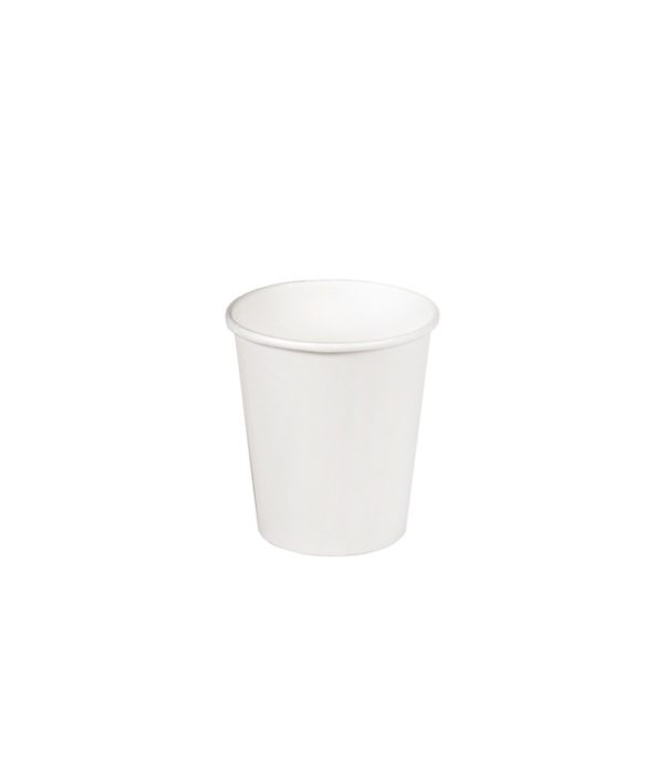 Čaša papirnata 185(205) ml, d=73 mm bela (46 kom/pak)