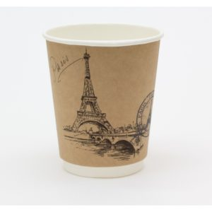 Čaša papirnata Gradovi sveta 250 ml, d=90 mm kraft (25 kom/pak)
