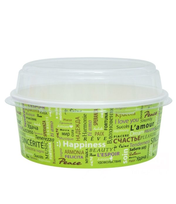 Kartonska posuda za salate sa poklopcem 750 ml d=150 mm Fiesta 50 kom (komplet)
