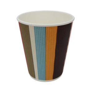 Papirna čaša 3-sl 310 ml d=90 mm šarene pruge (25 kom/pak)