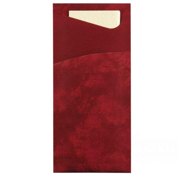 Koverta + salveta DUNI 33х33, 2sl, 100 kom/pak burgundi / vanila