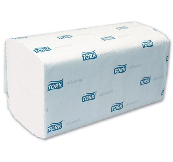 Papirni ubrusi 2-sl ZZ presavijeni 250 L/pak TORK ADVANCED H3 bijeli (290163) (15 kom/pak)