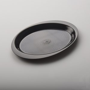 Tacna za predjelo oval 18,5 cm PP crna Gold Plast (10 kom/pak)