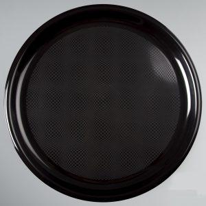 Poslužaonik za picu okrugli 35 cm PP crni Gold Plast (12 kom/pak)
