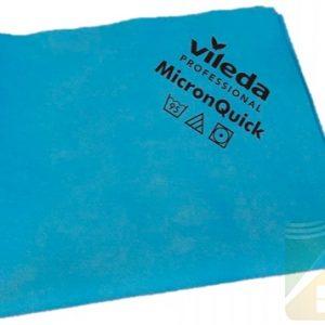 Krpa od mikrovlakana 38×40 cm Vileda MicronQuick plava 5 kom (152109/152105)