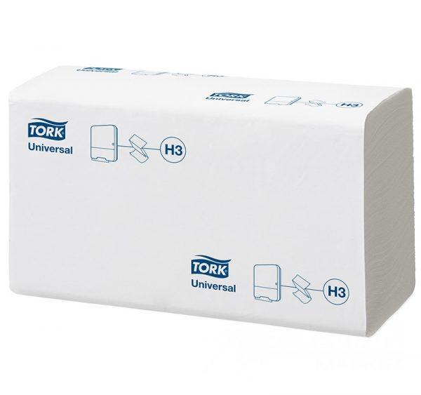 Papirni ubrusi  1-sl ZZ presavijeni 250 L/pak TORK UNIVERSAL H3 (120108) (20 kom/pak)