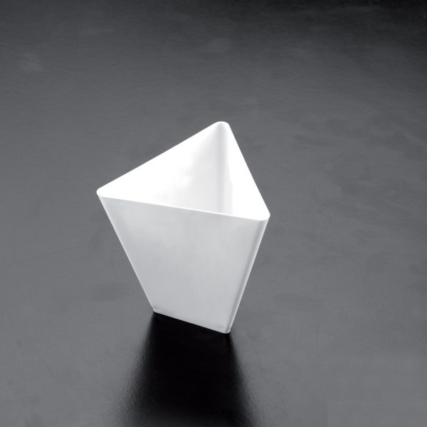 Posuda Triangolo za catering 90 ml Gold Plast bijela (25 kom/pak)